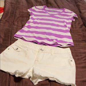 Girls Pullover Short Sleeve Tee. EUC!